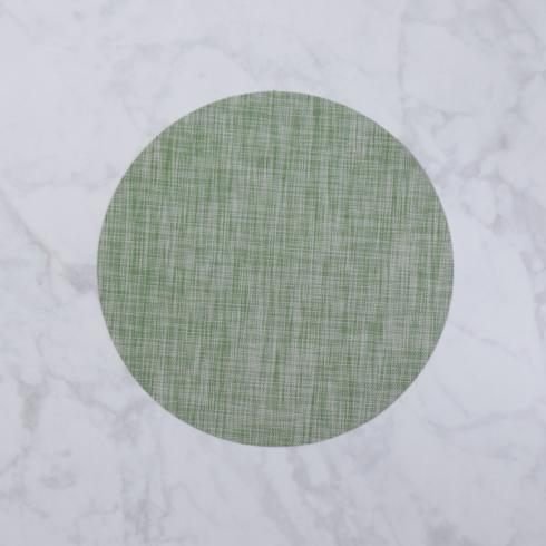$26.00 Indoor|Outdoor green woven round placemat set of 4