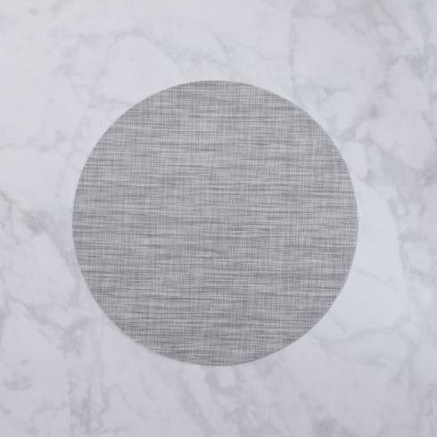$26.00 Indoor|Outdoor grey woven round placemat set of 4