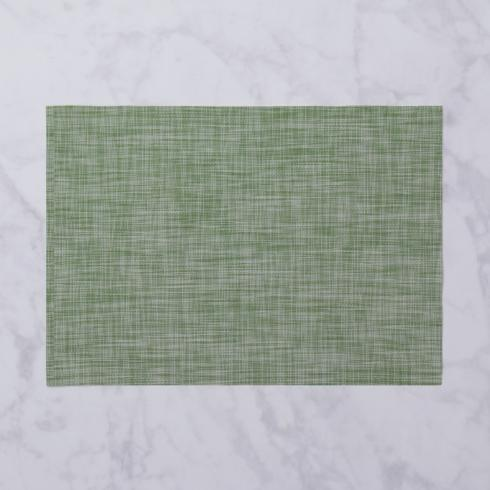 $26.00 Indoor|Outdoor green woven rectangle placemat set of 4