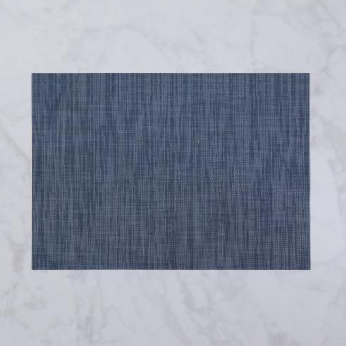$26.00 Indoor|Outdoor navy woven rectangle placemat set of 4