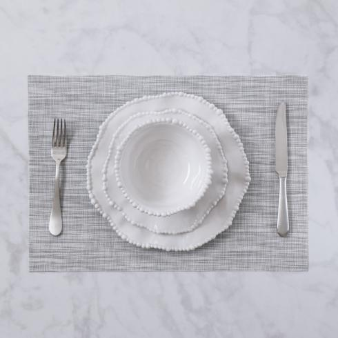 $26.00 Indoor|Outdoor grey woven rectangle placemat set of 4