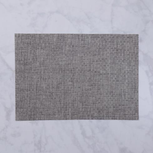 $26.00 Indoor|Outdoor charcoal woven rectangle placemat set of 4