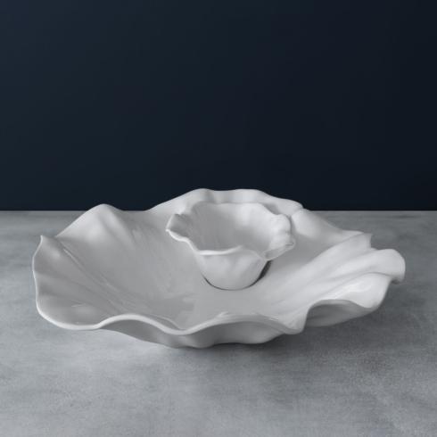 Beatriz Ball  Vida Bloom Chip and Dip (White) $72.00