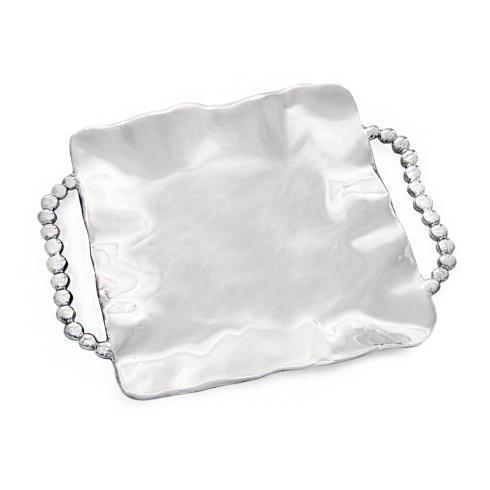 $130.00 perla rect tray w/handles