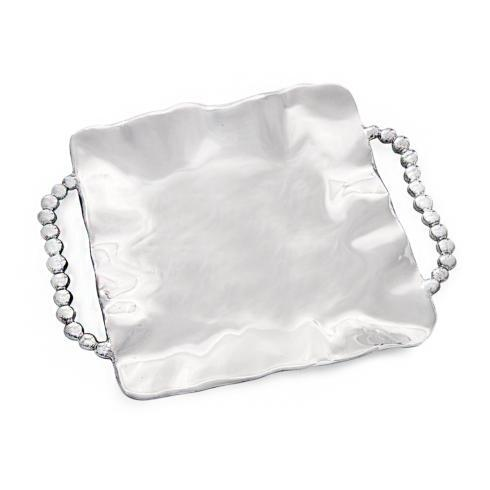 $142.00 Perla Square Tray with Handles