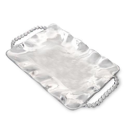 perla sq tray w/handles