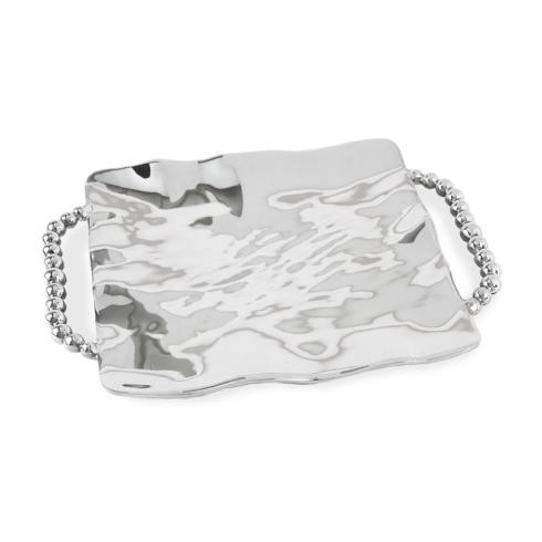 $126.00 perla sq tray w/handles