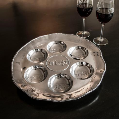 Seder Plate with Pearls