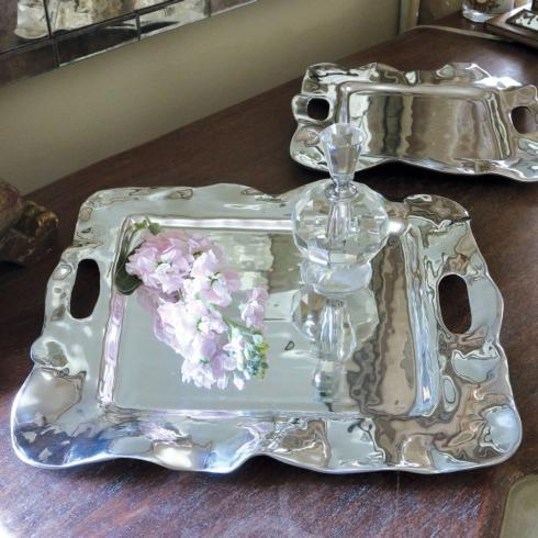 Beatriz Ball  Vento Rebecca Square Tray with Handles (medium) $126.00