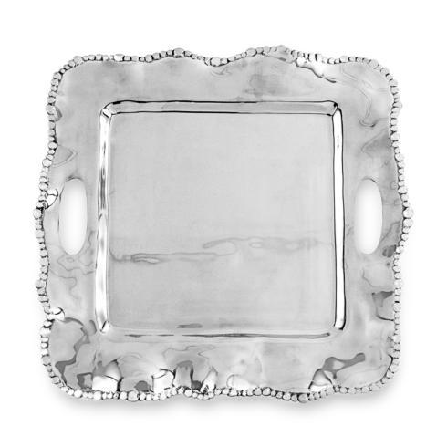 Beatriz Ball  Organic Pearl Kristi Square Tray with Handles (medium) $151.00