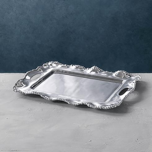 $178.00 Kristi Rectangular Tray with Handles (medium)