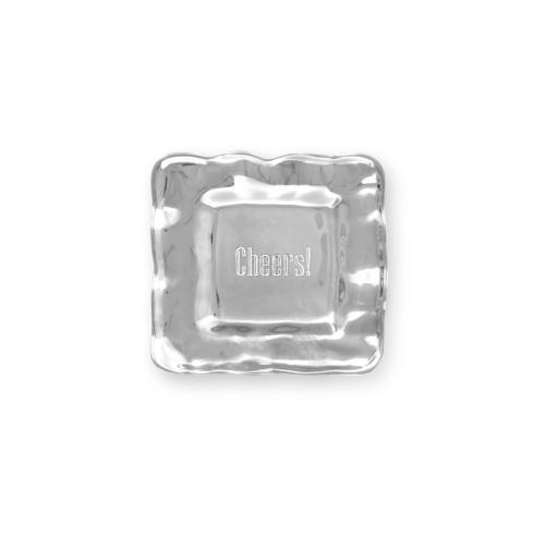 Beatriz Ball  A LITTLE SOMETHING square engraved tray (