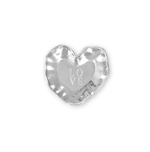 "$43.00 heart engraved tray ("" LOVE"")"