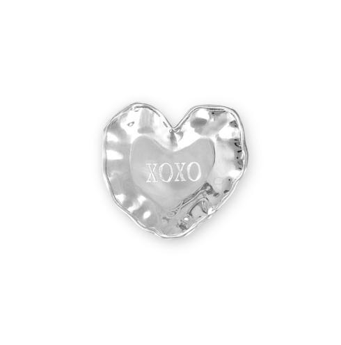 "$43.00 heart engraved tray (""XOXO"")"