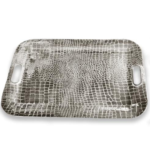 Croc Rectangular Tray with Handles (xlg) image