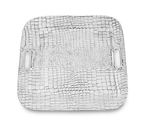 Beatriz Ball  Croc Square Tray With Handles $156.00