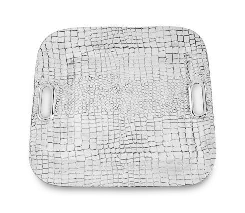 Beatriz Ball  Croc Square Tray With Handles $156.00