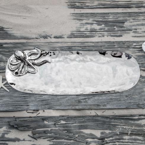 Beatriz Ball  Ocean Ocean Octopus Oval Tray $123.00