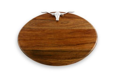 Beatriz Ball  Wood Western Longhorn Oval Large $161.00