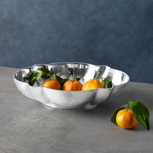 Beatriz Ball  Pearl denisse oval bowl centerpiece $115.00