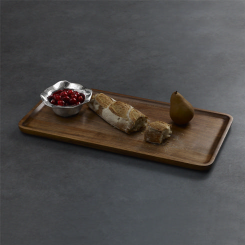 Beatriz Ball  Wood CUTTING BOARD WITH VENTO ROUND BOWL (DARK WOOD) $140.00