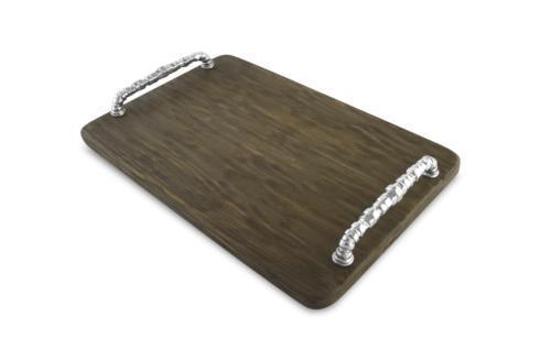 Beatriz Ball  WOOD CUTTING BOARD Soho tray with bolt handles (LG) gray $179.00
