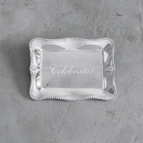 $41.00 Pearl Denisse Rectangular Engraved Tray - Celebrate!
