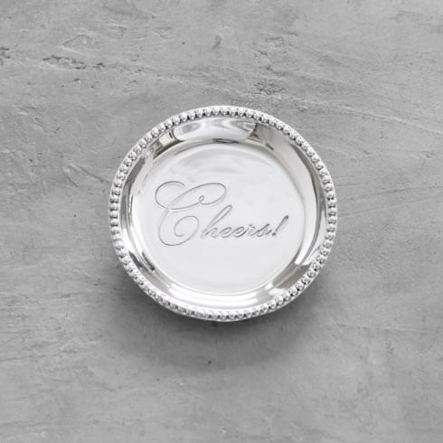 $39.00 Organic Pearl rnd engraved tray- Cheers!