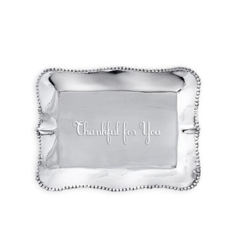 $39.00 Pearl denisse rect engraved tray- Thankful for You