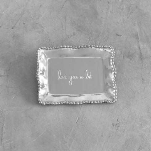 $41.00 Organic Pearl Rectangular Engraved Tray - Love You Alot