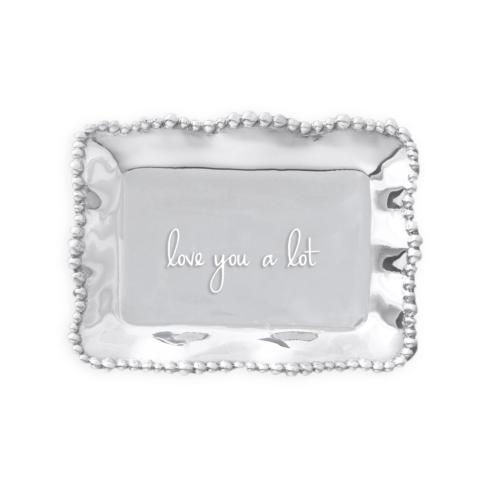 $39.00 Organic Pearl rect engraved tray- love you a lot