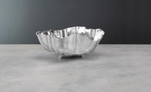 onyx bowl w/feet (lg)