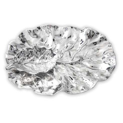 $205.00 leaf platter w/dip bowl