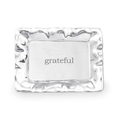 Vento rect engraved tray- grateful