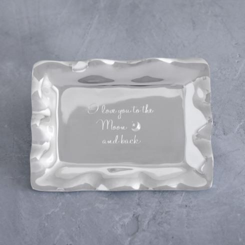 $41.00 Vento Rectangular Engraved Tray - I Love You To The Moon And Back
