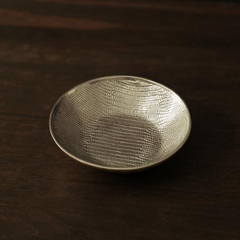 $49.00 GIFTABLES Sierra Modern python rnd bowl gold (sm)