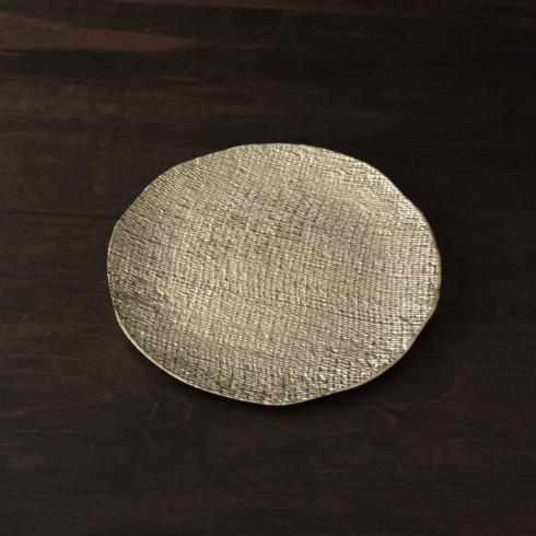 $131.00 Tela rnd platter gold (lg)