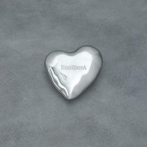 $40.00 Engraved heart paperweight - Resilient
