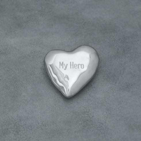 $40.00 Engraved heart paperweight - My Hero