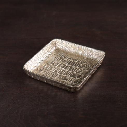 $54.00 GIFTABLES Croc napkin box gold