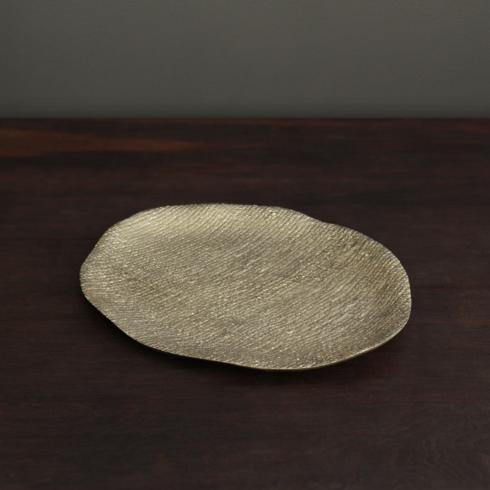 Beatriz Ball  Sierra Modern Kioto oval platter gold (lg) $130.00
