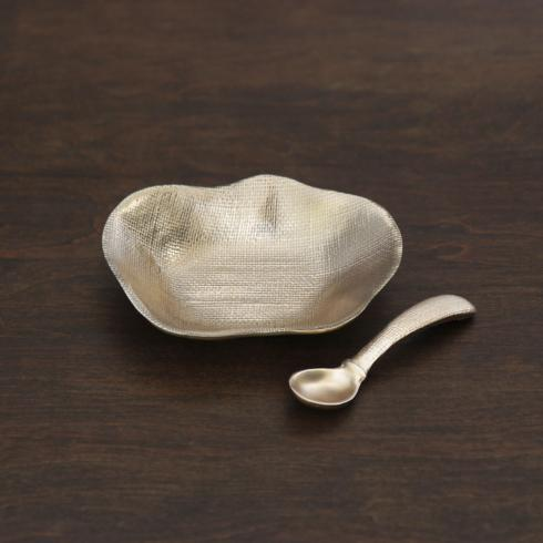 $56.00 Kioto mini bowl gold w/spoon