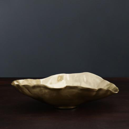$169.00 SIERRA MODERN Maia ovl bowl gold (lg)