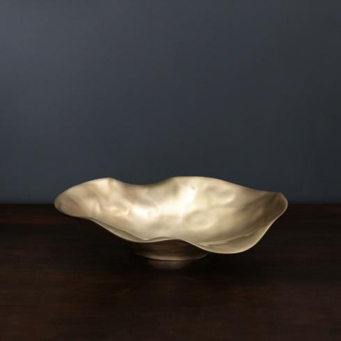 Maia Oval Bowl Gold Medium