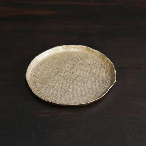 Seattle Round Platter Gold Medium image