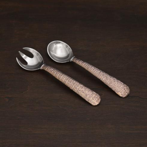 $57.00 SIERRA MODERN Tela salad servers rose gold