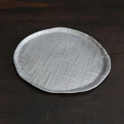 $138.00 SIERRA MODERN Seattle large rnd platter gunmetal