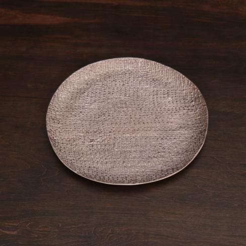 $131.00 SIERRA MODERN Tela rnd platter rose gold (lg)