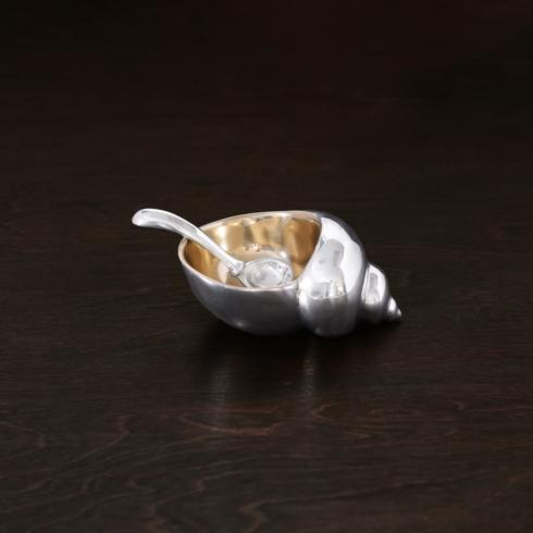 $69.00 Sierra Modern ocean conch salt cellar w/spoon gold