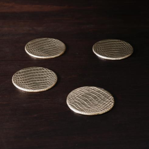 Croc Coaster Set Gold image